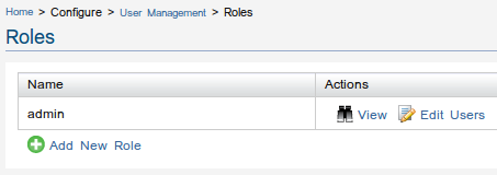 Roles List Screen