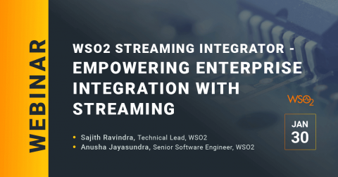 WSO2 Streaming Integrator - Empowering Enterprise Integration with Streaming