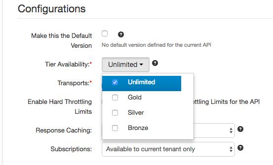 API-level throttling